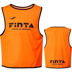 FINTA フィンタ  ジュニアビブス 1枚  FT6554 オレンジ|spg-sports