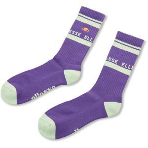 Ellesse エレッセ  スリクォーター ソックス 男女兼用 ユニセックス Threequarter Socks EHA00100 パープル|spg-sports