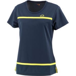 Ellesse エレッセ  メッシュゲームシャツ レディース テニスウェア EW00120ZT ネイビー spg-sports