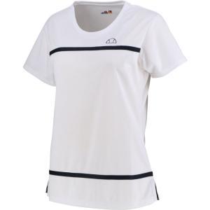 Ellesse エレッセ  メッシュゲームシャツ レディース テニスウェア EW00120ZT ホワイト spg-sports