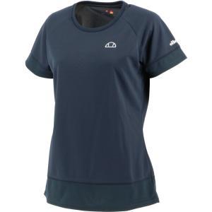 Ellesse エレッセ  メッシュ ラグランゲームシャツ レディース テニスウェア EW00121ZT ネイビー spg-sports