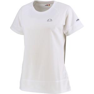 Ellesse エレッセ  メッシュ ラグランゲームシャツ レディース テニスウェア EW00121ZT ホワイト spg-sports