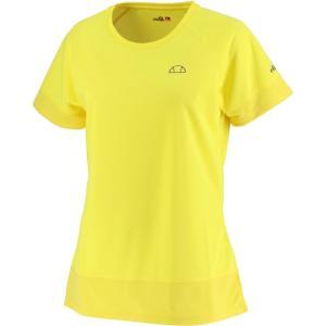 Ellesse エレッセ  メッシュ ラグランゲームシャツ レディース テニスウェア EW00121ZT イエロー spg-sports