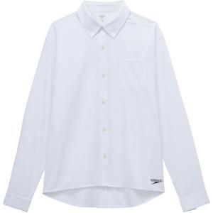 Speedo(スピード) ロングスリーブスタンダードシャツ SA51907 ホワイト|spg-sports