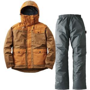 ロゴス(LOGOS) 汚れに強い防水防寒スーツ カーター ブラウン L 30340672|spg-sports