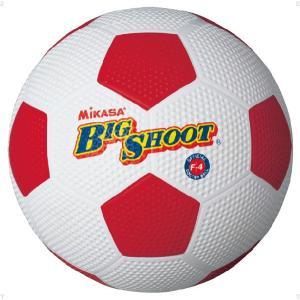 ミカサ(MIKASA) サッカーボール4号ゴム F4 ホワイト/レッド spg-sports