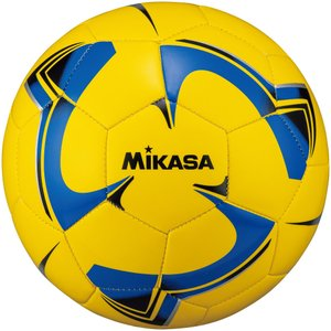 ミカサ MIKASA サッカーボール 4号球 レクレーション用 イエロー×ブルー F4TPVYBLBK|spg-sports