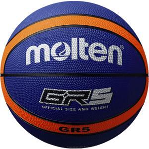 モルテン Molten GR5 ゴムバスケットボール 5号球 ブルー×オレンジ BGR5BO