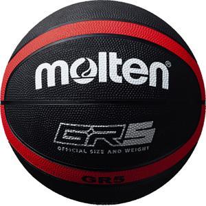 モルテン(Molten) GR5 ゴムバスケットボール 5号球 ブラック×レッド BGR5KR spg-sports