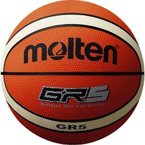 モルテン(Molten) GR5 ゴムバスケットボール 5号球 オレンジ×アイボリー BGR5OI spg-sports