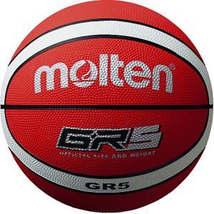 モルテン(Molten) GR5 ゴムバスケットボール5号球 レッド×ホワイト BGR5RW spg-sports