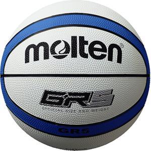 モルテン(Molten) バスケットボール5号球 GR5 ホワイト×ブルー BGR5WB|spg-sports