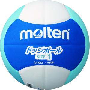 モルテン(Molten) モルテン ドッジボール2200 軽量1号 ブルー×シアン×ホワイト D1S2200BC|spg-sports