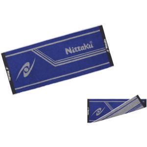 ニッタク Nittaku ラインミッドタオル 卓球 NL9234 ブルー*グレー|spg-sports