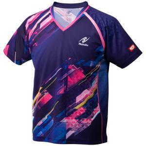 ニッタク Nittaku 卓球ユニフォーム スカイトップシャツ NW2202 ネイビー