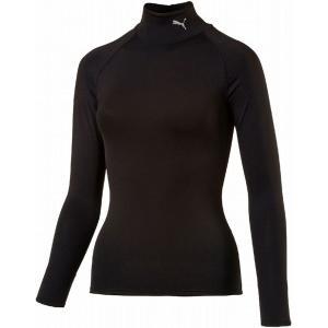 PUMA(プーマ) テックライト LSモックネック Tシャツ レディース 516806 01PUMA_BLACK spg-sports