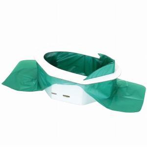 幼児から大人まで、座って使える携帯簡易トイレ。  凝固剤でオシッコを素早く固め臭いを包み込みます。 ...
