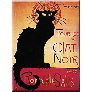 【SALE】黒猫メタルポストカード アールヌーヴォー広告復刻イラスト フランス パリ|spica-france