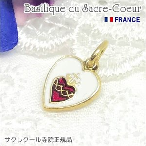 【SALE】SSサイズ金色ミニハート型イエスキリストの聖心メダイユ パリ サクレクール寺院正規品 フランス製 ペンダント ゴールドネックレス|spica-france