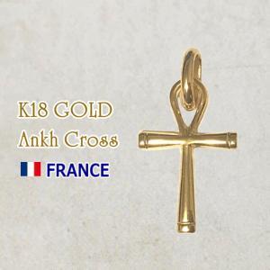 【SALE】18金 アンククロス エジプト十字架 18k K18 フランス製 ペンダント トップ ヘッド ゴールド ネックレス|spica-france
