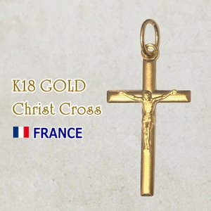 【SALE】18金 キリストクロス 十字架 18k K18 フランス製 ペンダント トップ ヘッド ゴールド ネックレス|spica-france