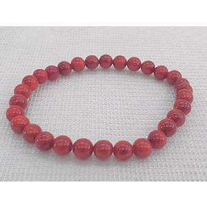 ツジモト真珠の本珊瑚 ブレスレット 赤珊瑚  アフリカ珊瑚 ...