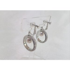 ツジモト真珠のイヤリング あこや本真珠  スワロスキー オリジナルリング SV|spicapearl