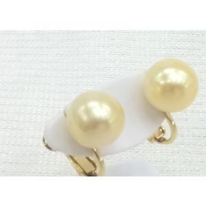 ツジモト真珠のゴールド 南洋本真珠 イヤリング SV 直結タイプ|spicapearl