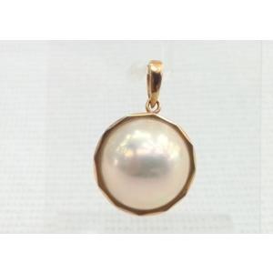 ツジモト真珠の  マベパール ペンダント マベ本真珠  トップ  K18|spicapearl