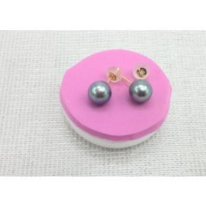 ツジモト真珠の ブラックパール ピアス あこや本真珠 k18 直結タイプ|spicapearl