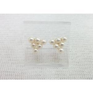 ツジモト真珠のベビーパール ピアス あこや本真珠   K18   トライアングル |spicapearl