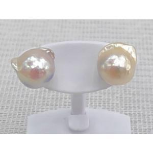 ツジモト真珠の  あこや本真珠  ピアス ナチュラル バロック k18  (NS12) |spicapearl