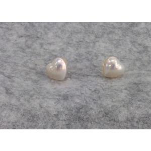 ツジモト真珠の マベパール ピアス k18 ハート|spicapearl