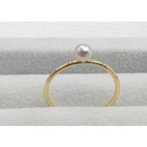 ツジモト真珠のベビーパール ピンキーリング K18 1珠  spicapearl