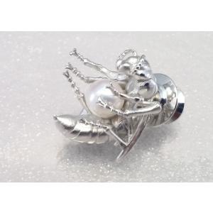 ツジモト真珠のタックブローチ あこや本真珠  SV  蜂 シルバーピンブローチ ピンクパール|spicapearl