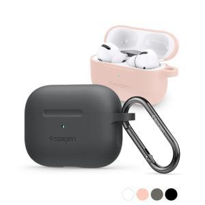 Spigen シリコンフィット Apple Airpods Pro ケース カバー カラビナ リング...