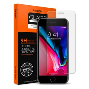 Spigen iPhone 8 / 7 対応  液晶保護フィルム GLASt.R SLIM スマホフ...