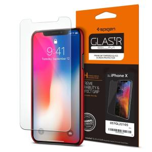 Spigen iPhone11 Pro ガラスフィルム / iPhone XS / iPhone X 対応 5.8インチ 用 薄さ0.4mm 強化ガラス 液晶保護フィルム 高透過率|spigenjapan2009