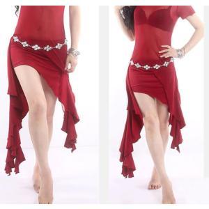 ベリーダンス ダンススカート 社交ダンス スカート パンツ付き コスチューム アラビア衣装 フィットネスウェア レッスン着 ステージ衣装 練習着 レッスンウェア|spillhope0601