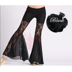 ベリーダンス  社交ダンス  ズボン  コスチューム  フレア  レース  パンツ  アラビア衣装  フィットネスウェア  レッスン着  ステージ衣装  練習着|spillhope0601