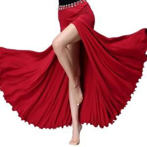 人気 ベリーダンス 社交ダンス スカート セクシー スリット 無地 コスチューム アラビア衣装 ステージ 練習着 イレギュラー スカート|spillhope0601