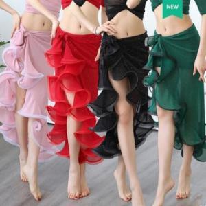 ヒップスカーフ  レディース  ベリーダンス  社交ダンス  セクシー  イレギュラー スカート  無地  コスチューム  アラビア衣装  ステージ  練習着|spillhope0601