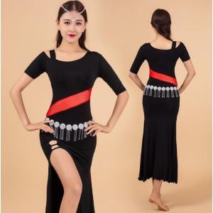 社交ダンス衣装  レディース  ワンピース  ベリーダンス  セクシー  演出服  フィットネスウェア  練習着  ステージ衣装  コスチューム spillhope0601