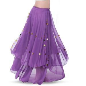 レディース  ベリーダンス  スカート 大きい裾  社交ダンス  キラキラ  ダンス  衣装  ラテンダンス  アラビア衣装  練習着  舞台  ステージ  イベント衣装 spillhope0601