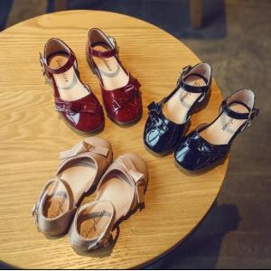 エナメル フォーマルシューズ ストラップ マジックテープ 子供靴 キッズシューズ ジュニア 女の子 リボン 軽量  発表会|spillhope0601