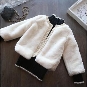 ファーコート キッズ  ボアコート 韓国子供服 フェイクファー  アウタ  ジャケット もこもこ メルトンコート 防寒|spillhope0601