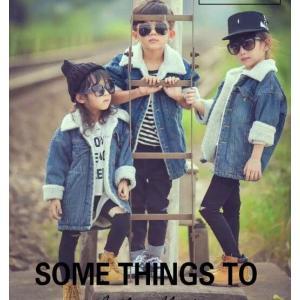 韓国子供服 デニムコート キッズ ボアコート 男女兼用 アウター 裏ボア  ジャケット ロング丈 防寒着|spillhope0601