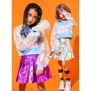 キッズ ダンス衣装 ヒップホップ ジャズダンス キッズ セットアップ パーカー スカート HIPHOP ダンスウェア ステージ 演出服 spillhope0601