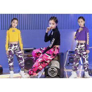 最安価 ヒップホップ ダンス衣装 キッズ 子供服 Tシャツ パンツ ジャズ HIPHOP チアガール 体操服 セットアップ 送料無料|spillhope0601
