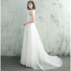 マタニティードレス ウエディングドレス ロングドレス  トレーン付き 結婚式 お花嫁 白 ホワイト パーティー 二次会 プライダルドレス  spillhope0601